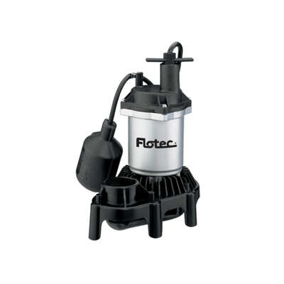 Flotec  1/3 hp 3,600 gph Thermoplastic  Tethered Float  AC  Sump Pump