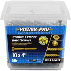 Power Pro  No. 10   x 4 in. L Star  Flat Head Ceramic Coated  Deck Screws  5 lb. 260 pk