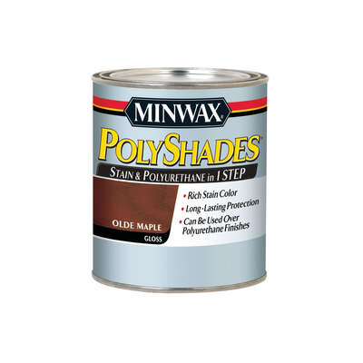 Minwax  PolyShades  Semi-Transparent  Gloss  Olde Maple  Oil-Based  Stain  1 qt.