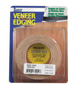 Band-It  0.75 in. W x 25 ft. L Red Oak  Wood Veneer Edge Banding  Prefinished