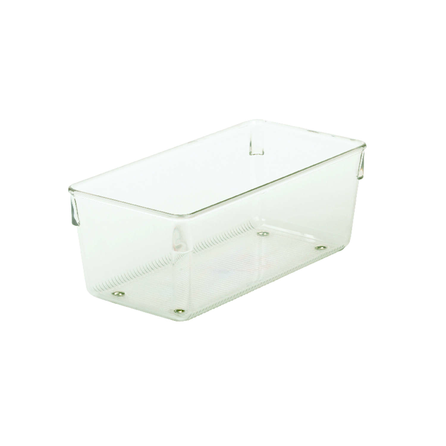 InterDesign  Linus  3 in. H x 4 in. W x 8 in. L Clear  Plastic  Drawer Organizer