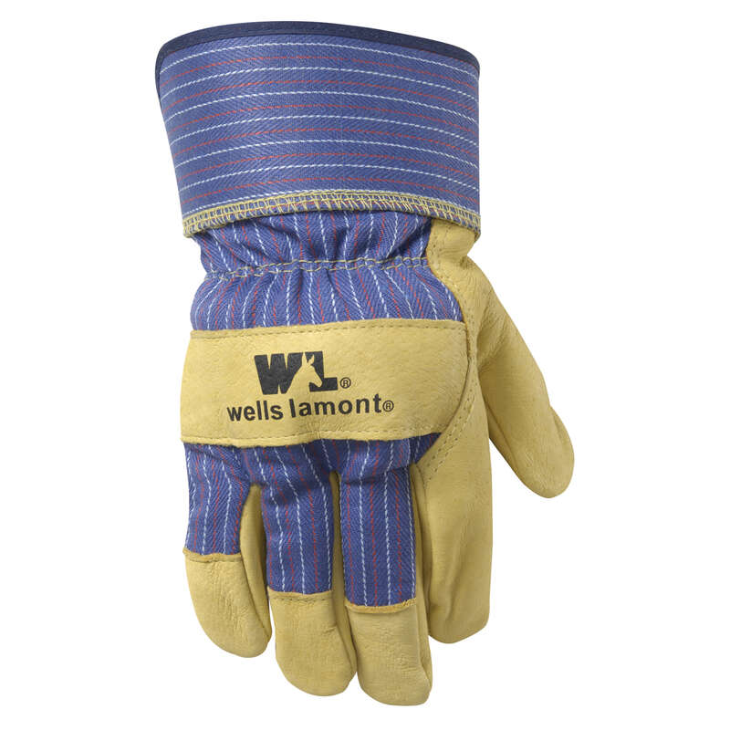 Wells Lamont  Men's  Leather  Palm  Gloves  Palomino  L  1 pair