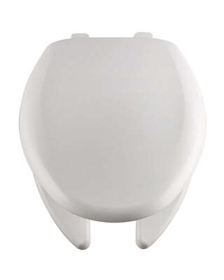 Bemis Elongated White Plastic Toilet Seat