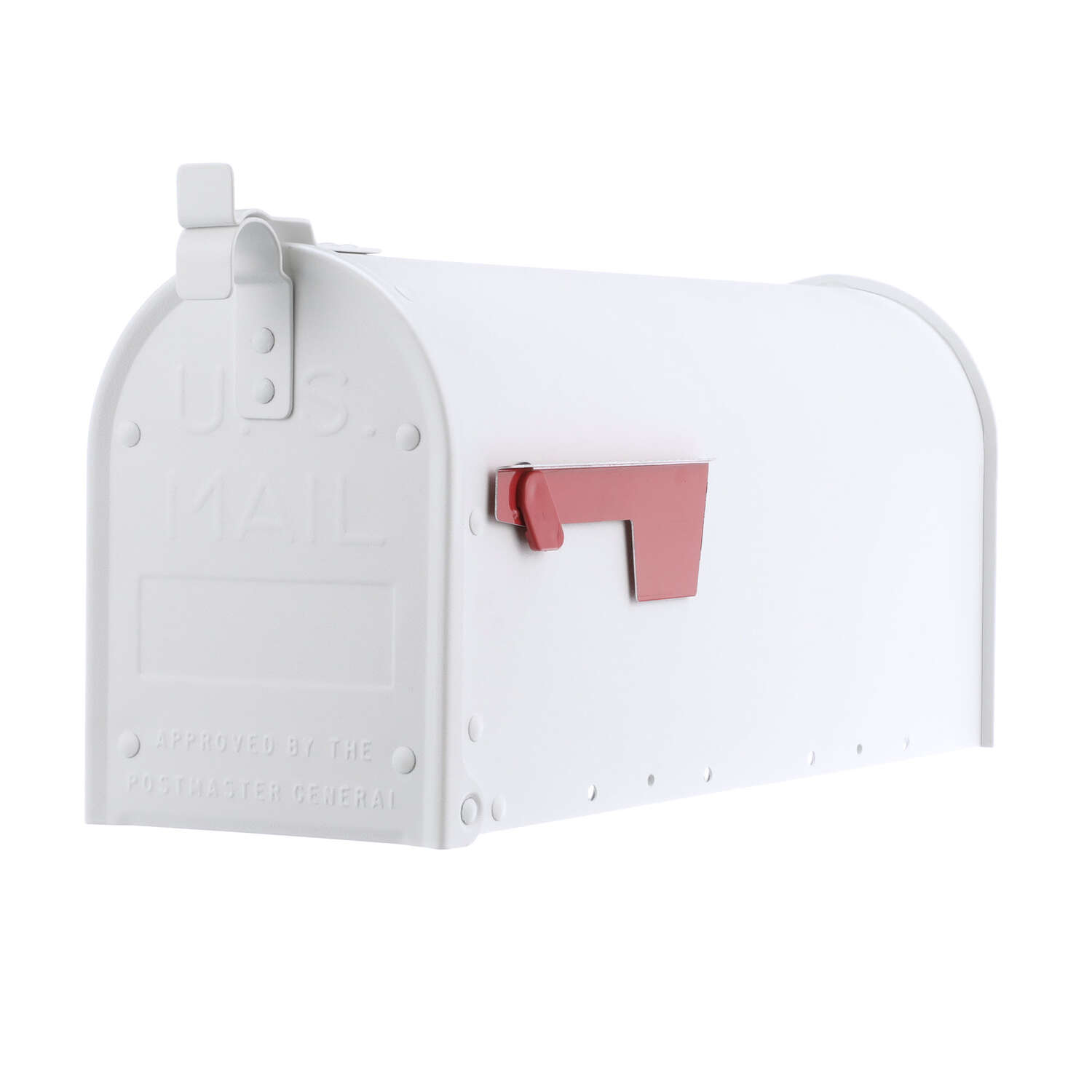 Gibraltar Mailboxes  Admiral  Aluminum  Post Mounted  White  Mailbox  9.5 in. H x 6.9 in. W x 20.8 i