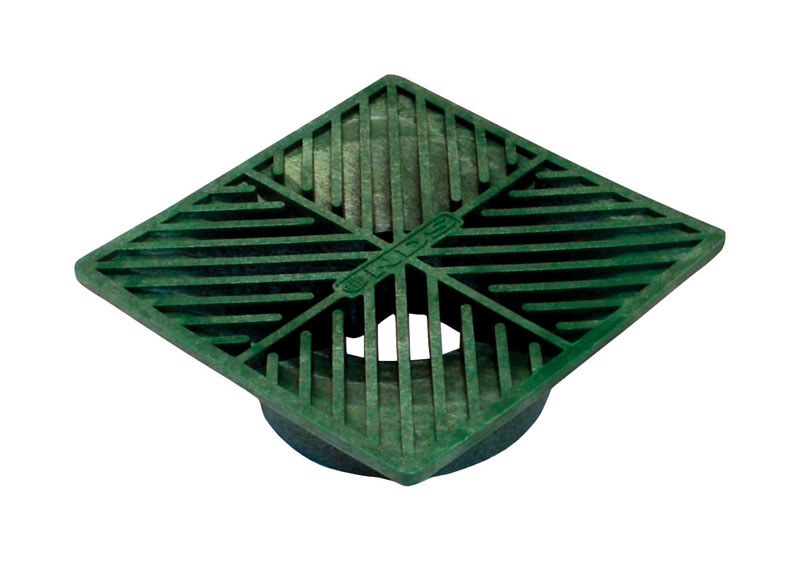NDS  6 in. Green  Polyolefin  Square  Square Grate