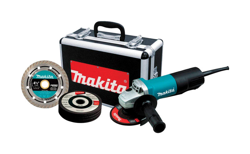 Makita  120 volts 7.5 amps 4-1/2 in. in. Cut-Off/Angle Grinder  Small  11000 rpm Corded