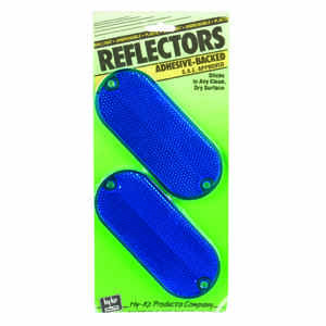 Hy-Ko  8.9 in. Round  Blue  Reflectors  2 pk