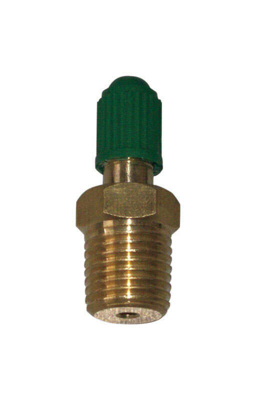 Campbell 1/4 in. Dia. x 1/2 in. Dia. Threaded Threaded Brass Snifter Air Valve 1/2 in. 1/4 in.