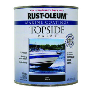 Rust-Oleum  Marine Coatings  Outdoor  Black  Marine Topside Paint  1 qt.