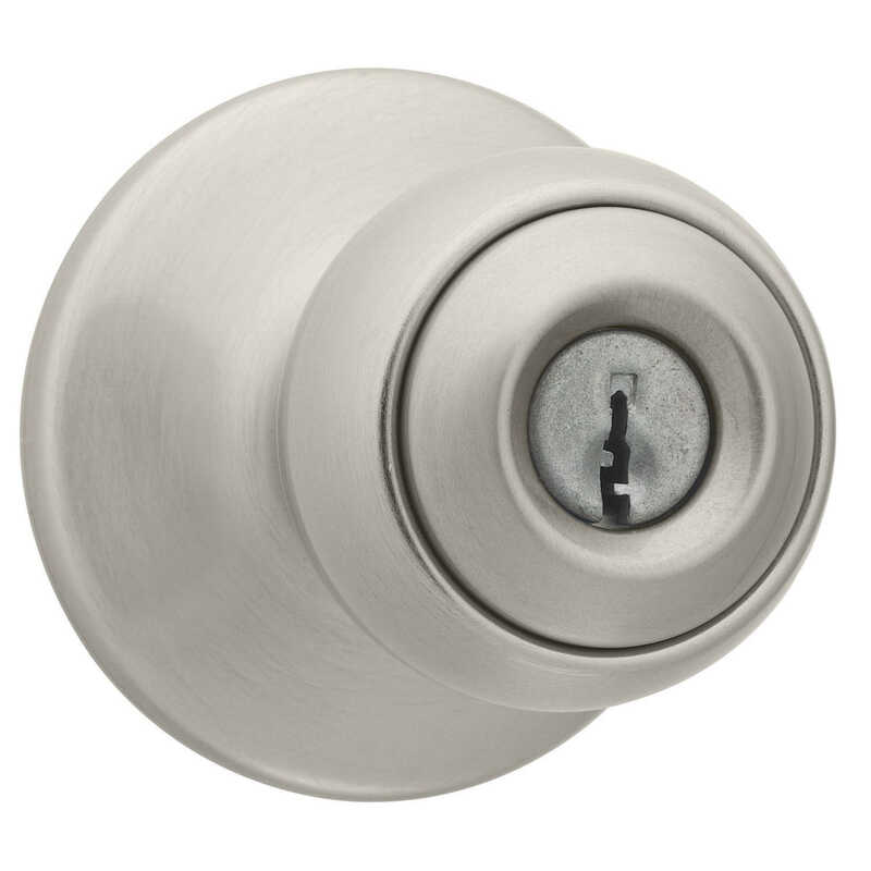 Kwikset  Polo  Satin Nickel  Steel  Entry Knobs  ANSI/BHMA Grade 3  1-3/4 in.