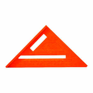 Ace  5 1/4 in. L x 10 in. H Plastic  Rafter Angle Square  Orange