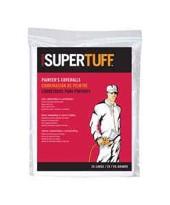 Trimaco  SuperTuff  Polypropylene  Coveralls  White  2XLT  1 pk