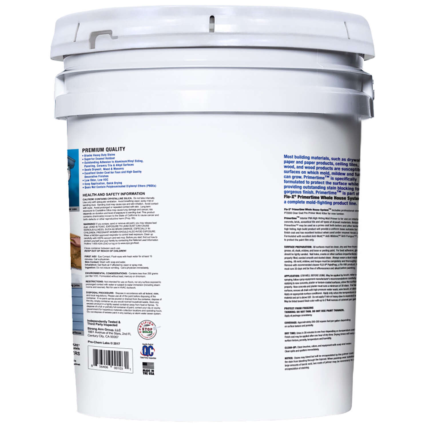 Flo-X  Primertime  Smooth  Clear  Water-Based  Acrylic  Primer  5 gal. For Drywall