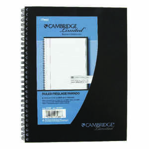 Cambridge Limited  7 in. W x 9 in. L College Ruled  Spiral  Notebook