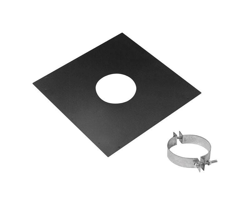 Duravent  4 in. Steel  Stove Pipe Ceiling Support Kit