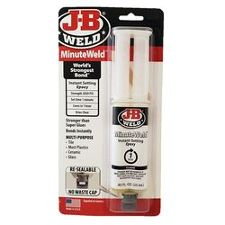J-B Weld  ClearWeld  High Strength  Gel  Automotive Epoxy  0.85 oz.
