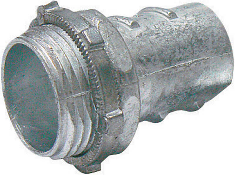 Sigma Electric ProConnex  3/4 in. Dia. Die-Cast Zinc  Screw-In Connector  For FMC 1 pk