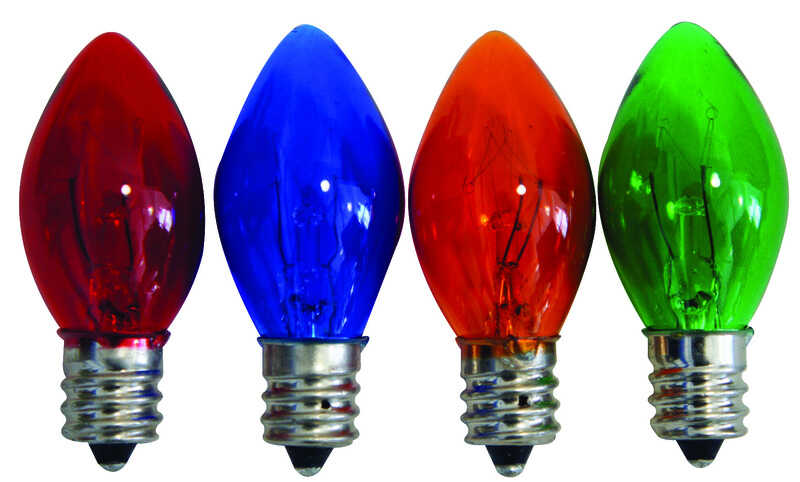 Celebrations  Incandescent  C7 Twinkle  Replacement Bulb  Multicolored  4 pk