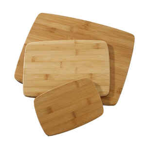 Farberware  11 in. W x 14 in. L Natural  Brown  Bamboo  Cutting Board Set