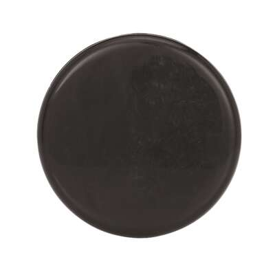 Amerock  Allison Value  Round  Cabinet Knob  1-1/4 in. Dia. 13/16 in. Nickel  Black  2 pk