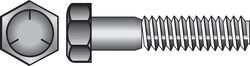 Hillman 3/8 in. Dia. x 1-1/2 in. L Heat Treated Zinc Steel Hex Head Cap Screw 100 pk