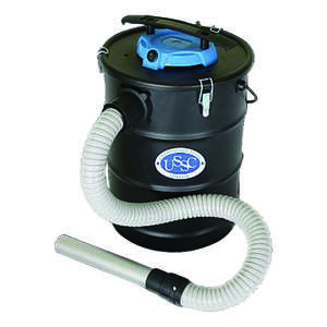 US Stove  6 gal. Corded  2 hp Ash Vacuum  110 volt Black  10 lb. 1 pc.