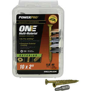 Hillman  POWERPRO ONE  No. 10   x 2 in. L Star  Flat Head Bronze  Steel  Multi-Material Screw  1 lb.