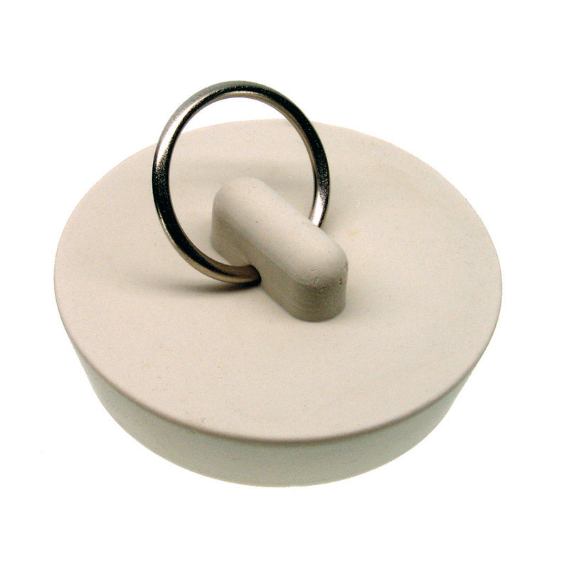 Danco  1-5/8 in. Dia. Sink Stopper  Rubber  White