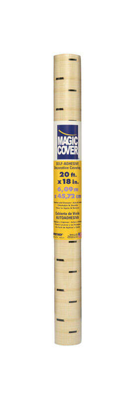 Magic Cover  20 ft. L x 18 in. W Bamboo  Self-Adhesive  Shelf Liner