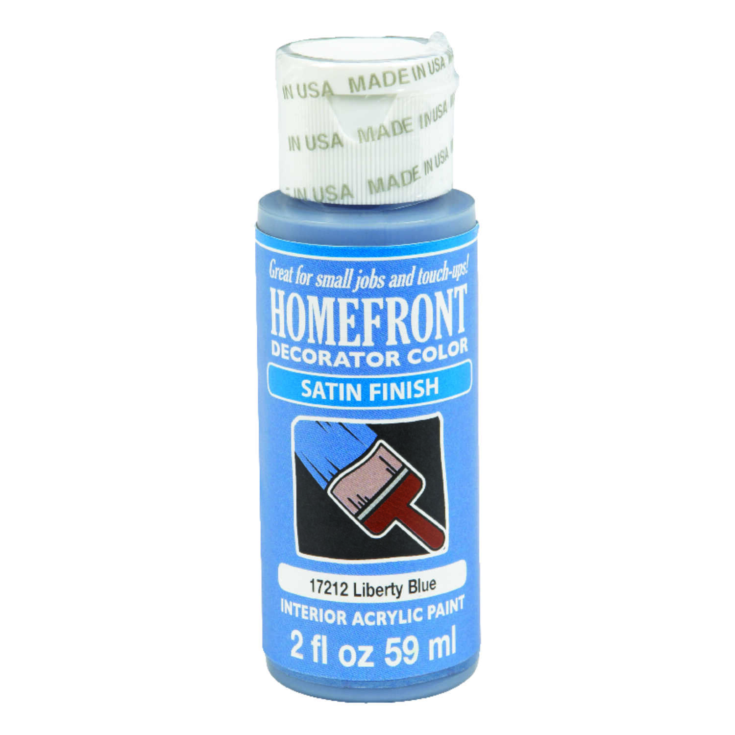 Homefront  Decorator Color  Satin  Paint  Liberty Blue  Acrylic Latex  2 oz.