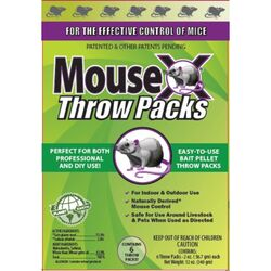 MouseX  Non-Toxic  Bait  Pellet Throw Pack  For Mice 12 oz. 6 pk