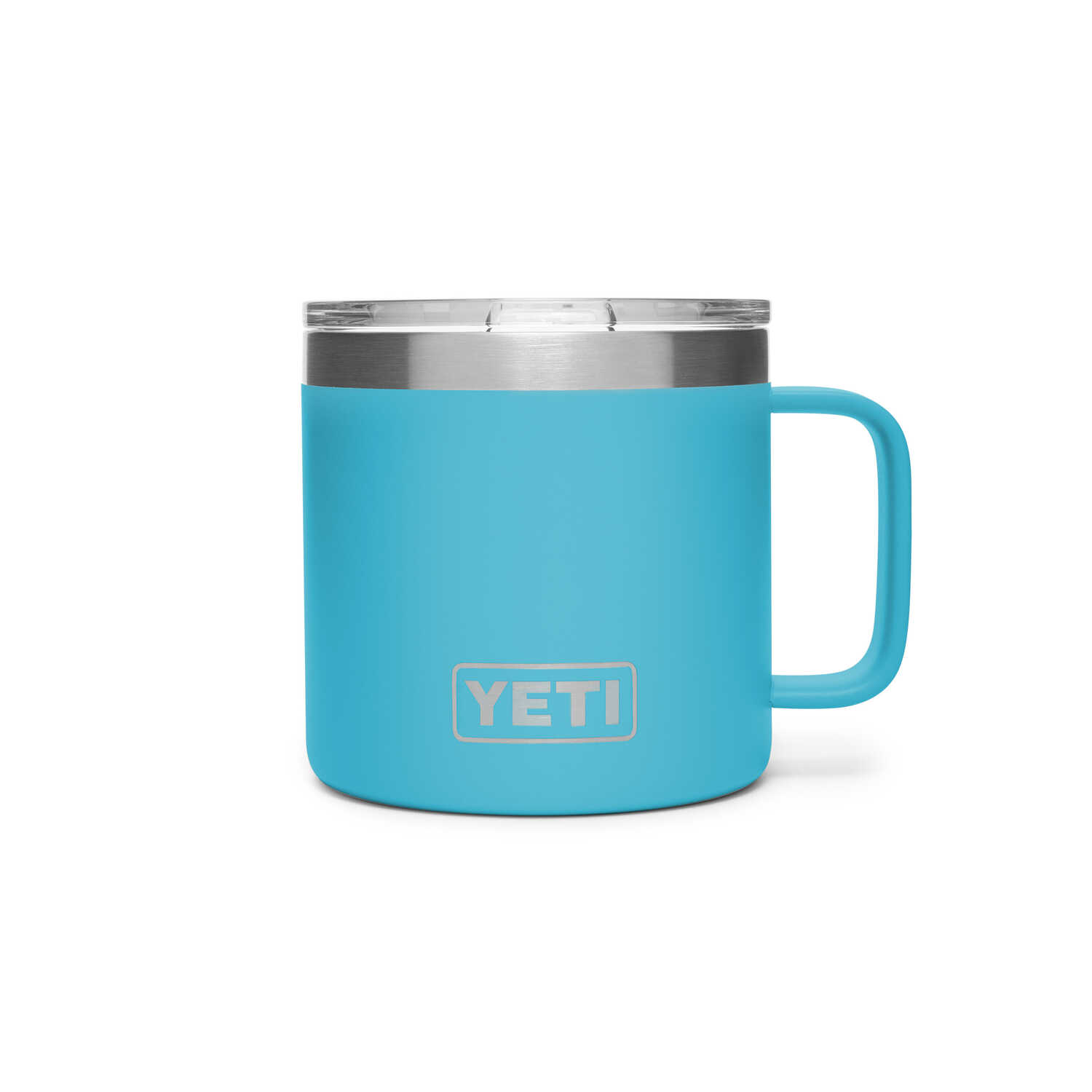 YETI  Rambler  Reef Blue  Stainless Steel  No Sweat  Mug  BPA Free 14 oz.