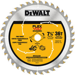 DeWalt  Flexvolt  7-1/4 in. Dia. x 5/8 in.  Carbide Tipped Steel  Circular Saw Blade  36 teeth 1 pk