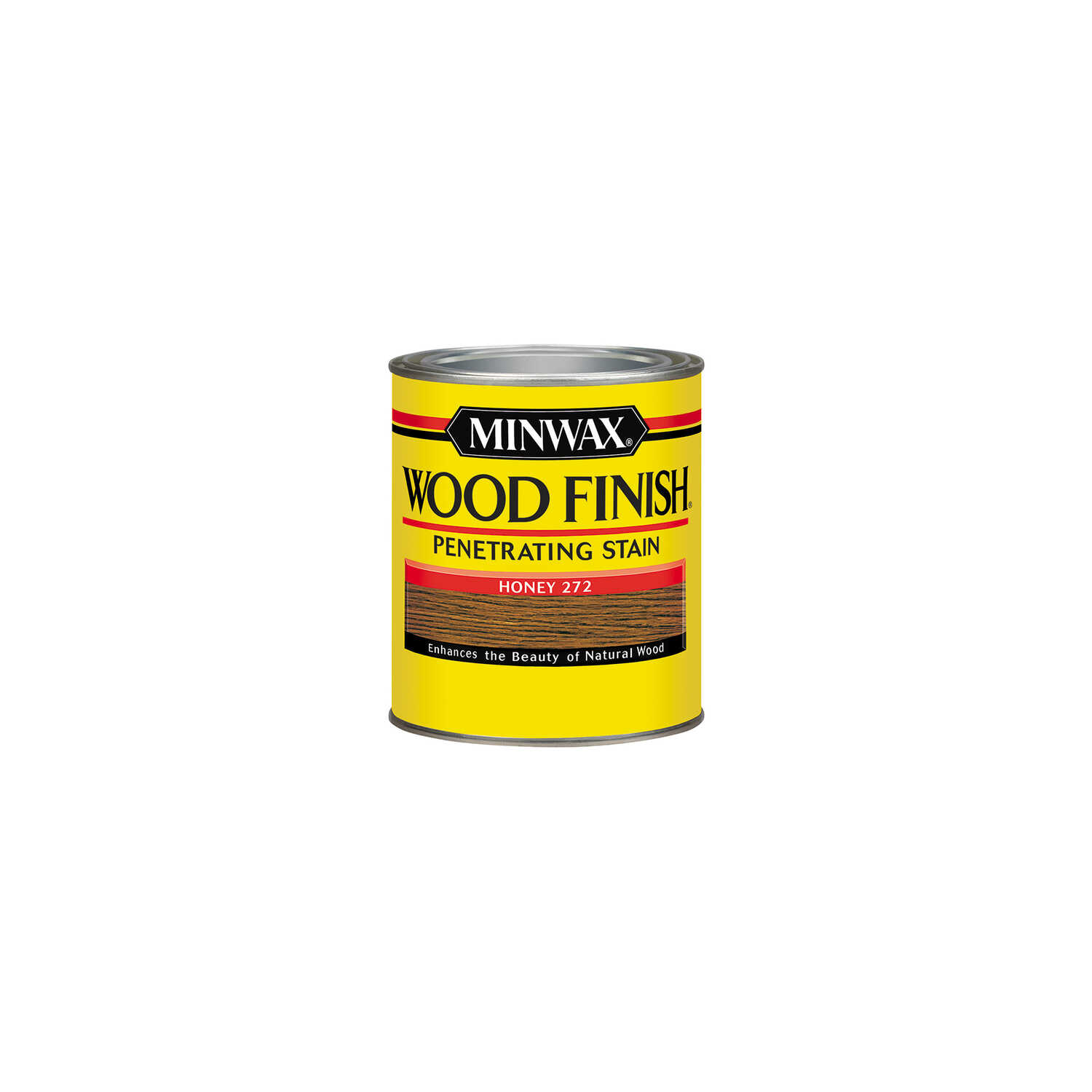 Minwax  Wood Finish  Semi-Transparent  Honey  Oil-Based  Oil  Wood Stain  0.5 pt.