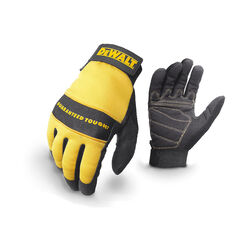 DeWalt  Radians  Unisex  Synthetic Leather  All Purpose  Gloves  Black/Yellow  L  1 pk