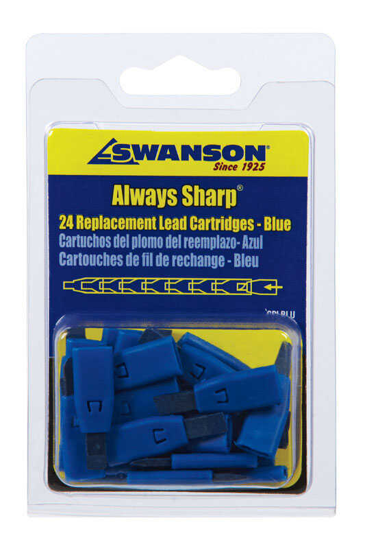 Swanson  Always Sharp  4.8 in. L x 3 in. W Mechanical Carpenter Pencil Replacement Tips  Blue  Clay
