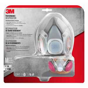 3M  P100  Multi-Purpose  Half Face Respirator  Valved Gray  M  1 pc.