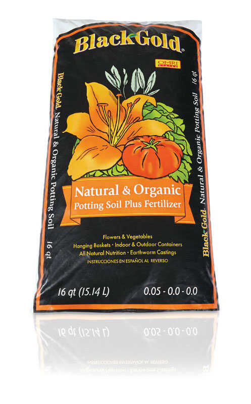 Black Gold Organic Potting Soil 16 Qt Ace Hardware