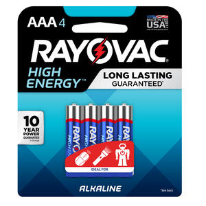Rayovac  High Energy  AAA  Alkaline  Batteries  4 pk Carded