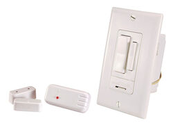 Heath Zenith  Rocker  Add a Switch Lamp Set  White  1 pk