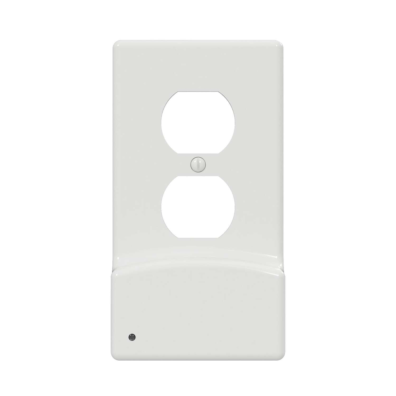 Westek LumiCover White 1 gang Plastic Duplex USB Nightlight Wall Plate 1 pk