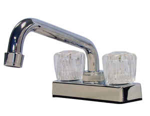 B & K  Two Handle  Laundry Faucet  4 in. Chrome