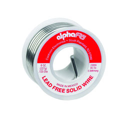 Alpha Fry  8 oz. Lead-Free Solid Wire Solder  0.125 in. Dia. Tin/Antimony  95/5  1 pc.