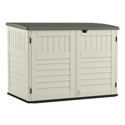 Suncast  The Stow-Away  White  Plastic  Horizontal  Horizontal Storage Shed  true