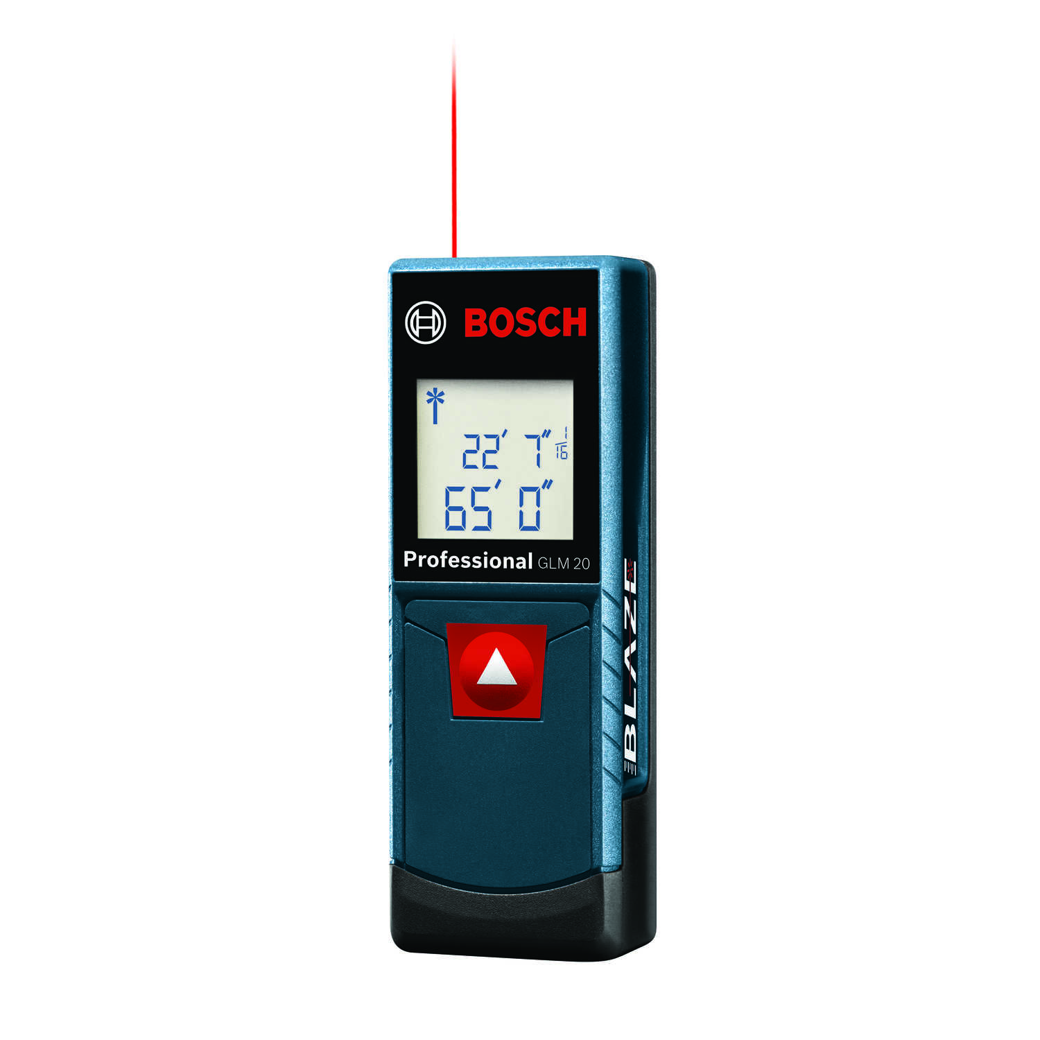 Bosch  BLAZE  4 in. L x 1.4 in. W With backlit display  Laser Distance Measurer  65 ft. Blue  3 pc.