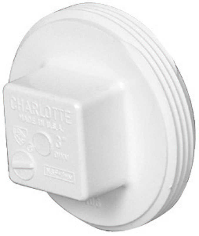 Charlotte Pipe  Schedule 40  3 in. MPT   x 3 in. Dia. MPT  PVC  Clean-Out Plug