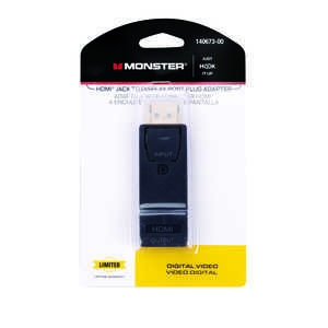 Monster Cable  Hook It Up  HDMI Adapter  1 each