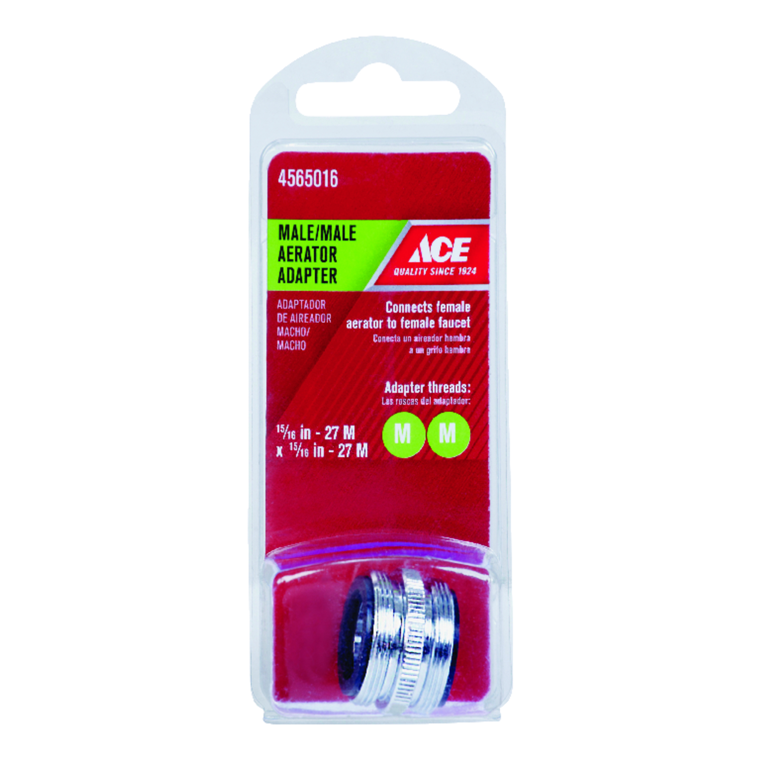 Ace  Male Aerator Adapter  15/16 in.  x 15/16 in.  Chrome