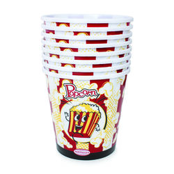 Nostalgia  4 qt. Multicolored  Plastic  Round  Popcorn Bucket  7 in. Dia. 8 pk