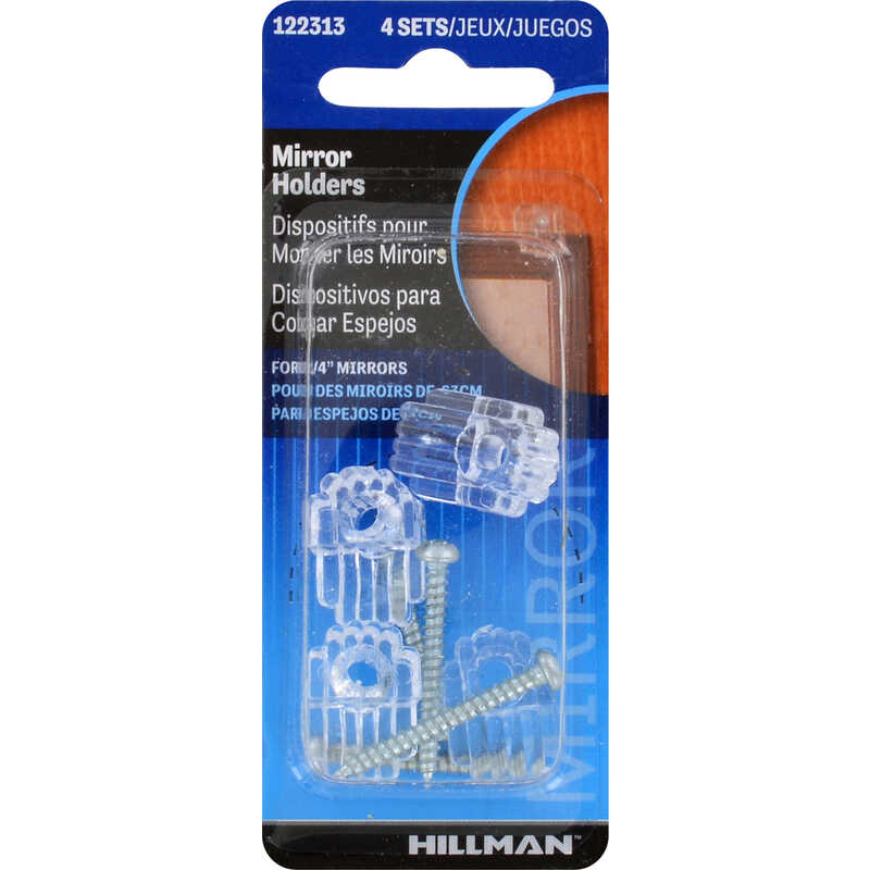 HILLMAN  AnchorWire  Holder Kit  Plastic  4 pk Mirror Holder